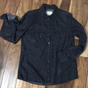 Zara Woman Jean Collared Shirt
